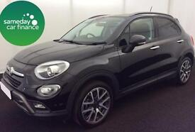 £232.75 PER MONTH BLACK 2015 FIAT 500X 1.4 CROSS PLUS HATCHBACK PETROL MANUAL
