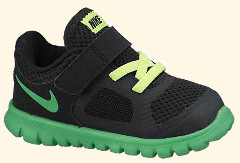 Nike Little Boys  Sneakers Black/Green/Volt  Infants Size 3 SALE!
