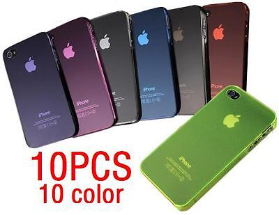 Lot 10Pcs ColorFul Matte Ultra Thin Air Jacket Hard Plastic Case for iPhone 4 4S on Rummage