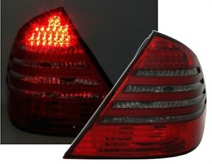 LUCES-TRASERAS-LED-NEGRO-ROJO-CRISTAL-MERCEDES-CLASE-E-W211-200-220-270-320-CDI
