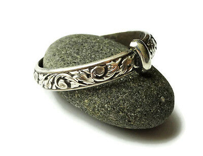 Thistle Wedding Ring - Sporran Key - Blacksmith - Outlander - Sassenach - .925