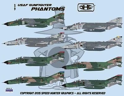 Speed Hunter Graphics 48011 1/48 decal USAF F-4E Gunfighter Phantoms ANG