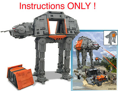 CUSTOM Star Wars Rogue One AT-ACT Cargo Walker (Lego Instructions ...