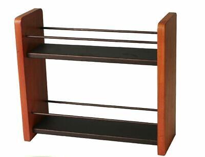 Spice Rack Organizer Wood Kitchen Countertop Jar Holder 2-Tier Storage Shelf  for sale  Shipping to India