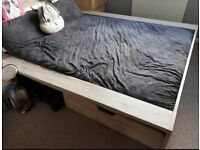 Argos Wooden Double Bed and Mattress