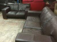 REDUCED !!! Brown 2 and 3 seater in leather good clean tidy condition