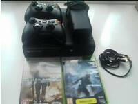 Xbox 360 E 500GB with 2 controllers with games