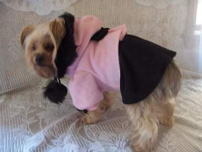 Dog Clothes Girl Pink Hooded Coat/Jacket Rock'N'Pooches Dog Apparelize Small