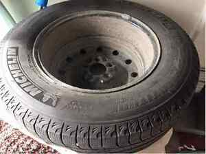 4 Michelin Latice Winter Tires (on rims) 215/70R16. Used 1.5 win