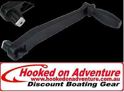 Sailing Winch Handle Black Lock In Winch Handle 10""