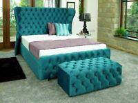 BRAND NEW STYLISH WING BED /TALL HEADBOARD qw