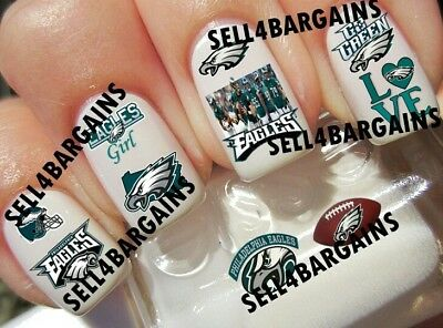 NFL PHILADELPHIA EAGLES FOOTBALL TEAM LOGOS》10 Different Designs》Nail Art Decals