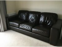 Chocolate Brown 3 Seater Sofa from British Home Stores