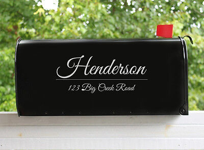 (2) Mailbox Decal Vinyl Personalized Custom Address House Numbers Stickers    (Number Stickers)