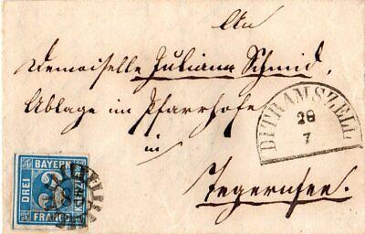 Bayern, MR 85 DIETRAMSZELL klar auf Briefteil m. breitr. 3 Kr. n. Tegernsee online kaufen