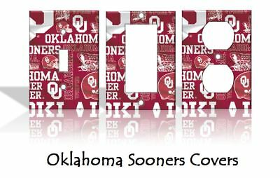 Oklahoma Sooners Light Switch Covers Football NCAA Home Decor Outlet