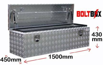 Aluminium Drawbar Toolbox For Camper Trailler or Caravan - 1500mm