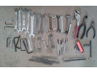 Tools / accessories - spanners, socket set, straps, trolley, fixings etc - selling other items