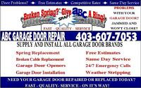 Calgary garage door repair 403-607-7053 * Affordable rates *