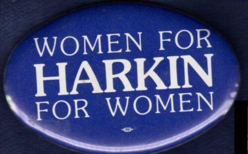 WOMEN FOR TOM HARKIN CUMMING WARREN IOWA SENATE 1990 POLITICAL PINBACK BUTTON