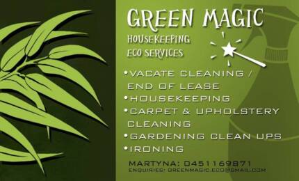 EXPERIENCED CLEANER / HOUSEKEEPER / VACATE / CARPET CLEANING