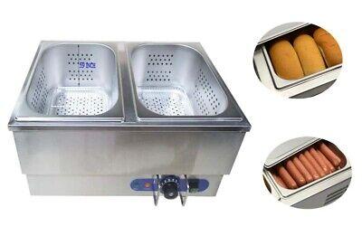 Commercial Hot Dog Steamerbun Warmer Countertop Warmer Device Concessions Sale