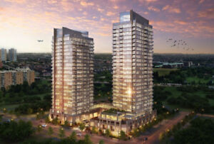 BRAND NEW NEVER LIVED IN 1+1 BEDROOM CONDO BY SQUARE 1 FOR RENT
