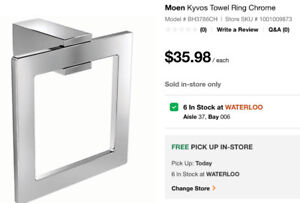 Moen Kyvos Chrome Towel Ring
