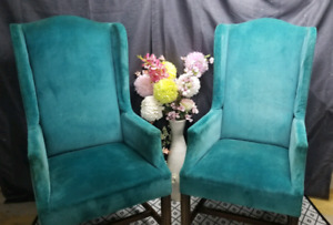 Retro tall back chairs