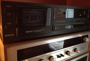 Denon DR-M10 2 head/3 motor cassette deck with tapes $40 London Ontario image 3