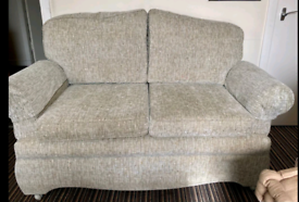 Great condition 2 seat sofa settee converts to single bed on castors
