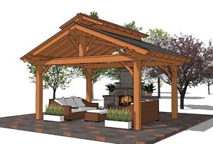 Gorgeous Pergola,Pavilion,Gazebo Kit FY Outdoor Space  Belleville Belleville Area image 8
