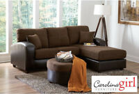 Brand NEW Mocha Sectional! Call 506-854-6686!