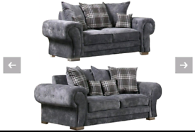 Grey Fabric 3&2 or Corner Sofa New Free local delivery