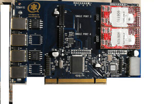 WILDCARD TDM410 4 Port TDM PCI w/2 X100M FXO modules