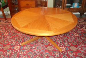 Mid Century Round Teak Coffee Table