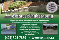 Oscape Landscape Services Now Booking 2015 Season