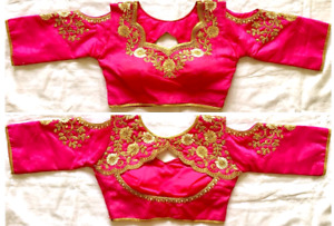 Pink saree blouse only