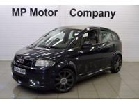 2004 04 AUDI A2 1.6 FSI SPORT 5D 109 BHP 5DR 5SP HATCH, BLUE, 115,000M, SH+BILLS