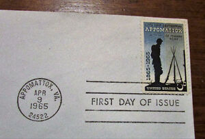 TWO 1965 Appomattox Civil War Centennial 5 Cent First Day Covers Kitchener / Waterloo Kitchener Area image 8