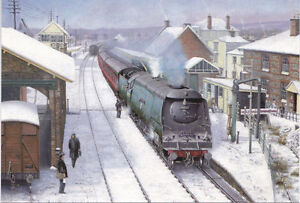 34040 West Country Southern Railway BR Engine Steam Train Christmas Xmas Card