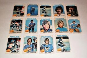 1975-76 PITTSBURGH PENGUINS IN VG CONDITION