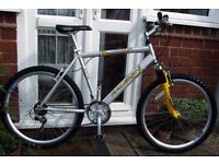 **MENS RALEIGH MX AERO 18 SPEED FRONT SUSPENSION BIKE - CLEANED & SERVICED - MINT!!**