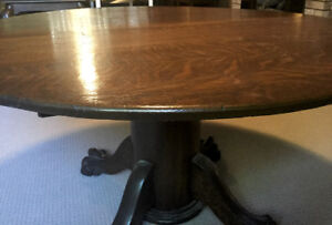 Classic solid hardwood table