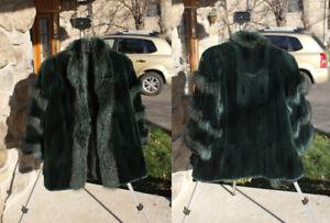 Manteau de fourrure de rat musqué - femme 10-12