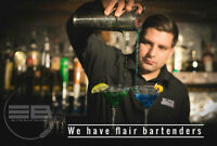 Bottle flipping bartenders/bar rentals/photobooth