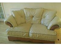 Leather sofa set 2 seater and single