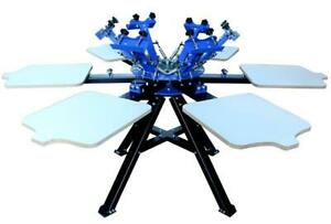 6 Color Screen Printing Machine Rotary Press Printer for shirt 006366 Item number006366