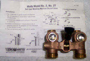 WASHING MACHINE SHUT OFF VALVE