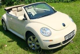 Volkswagen Beetle 1.6**LUNA CONVERTIBLE**Only 65,762 MLS**White,Powerhood,Alloys